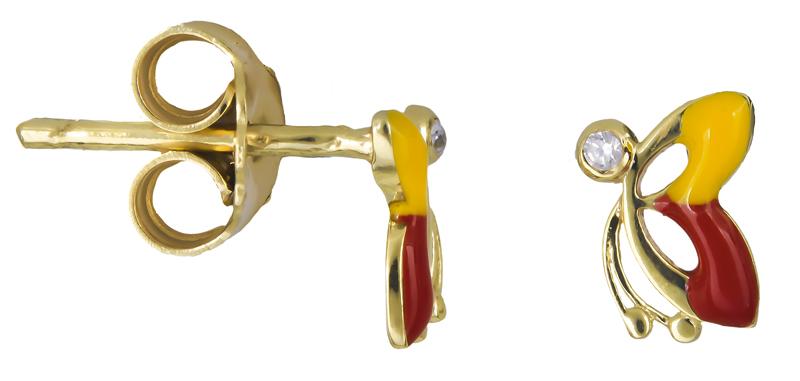 Χρυσά σκουλαρίκια με πεταλούδες Κ14 021346 021346 Χρυσός 14 Καράτια