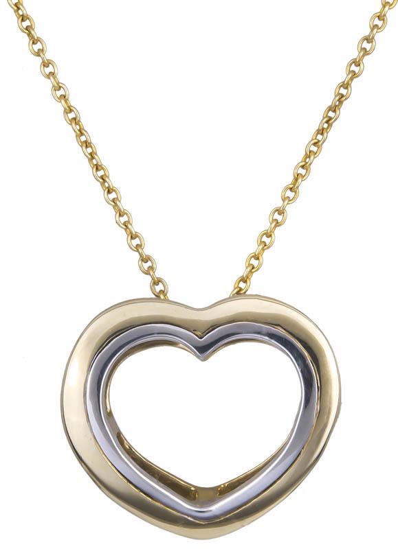 Γυναικείο κολιέ καρδούλα Κ14 021350 021350 Χρυσός 14 Καράτια