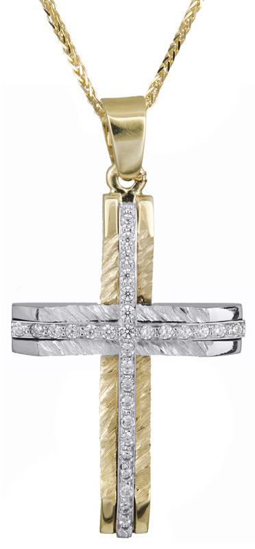 Βαπτιστικοί Σταυροί με Αλυσίδα Βαπτιστικός σταυρός για κορίτσι με αλυσίδα Κ14 C021367 021367C Γυναικείο Χρυσός 14 Καράτια