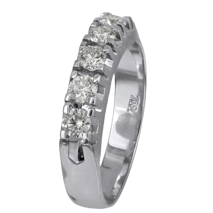 Σειρέ λευκόχρυσο δαχτυλίδι Κ18 021398 021398 Χρυσός 18 Καράτια