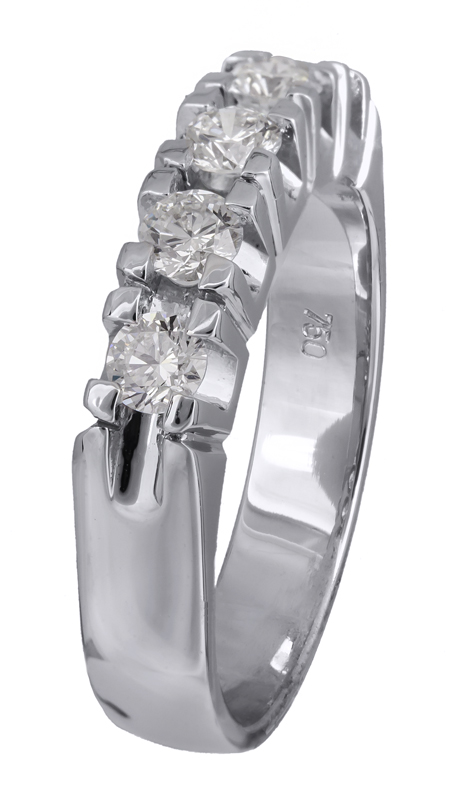Λευκόχρυσο σειρέ δαχτυλίδι 18Κ με διαμάντια Κ18 021399 021399 Χρυσός 18 Καράτια χρυσά κοσμήματα δαχτυλίδια σειρέ ολόβερα