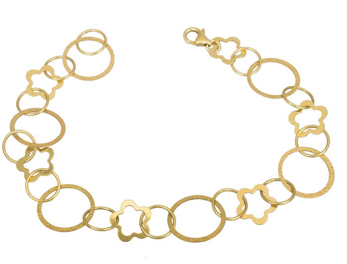 Χρυσό γυναικείο βραχιόλι Κ14 021407 021407 Χρυσός 14 Καράτια