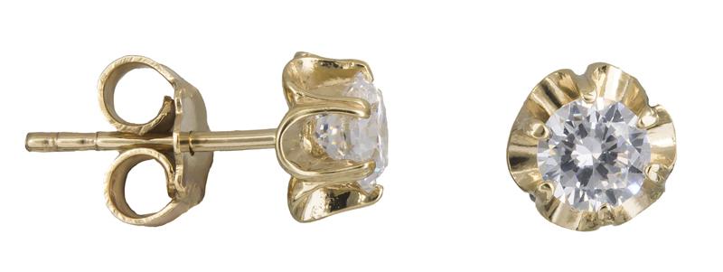Γυναικεία σκουλαρίκια με ζιργκόν Κ14 021414 021414 Χρυσός 14 Καράτια