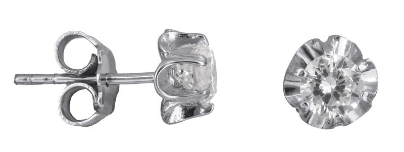 Λευκόχρυσα σκουλαρίκια με ζιργκόν Κ14 021415 021415 Χρυσός 14 Καράτια