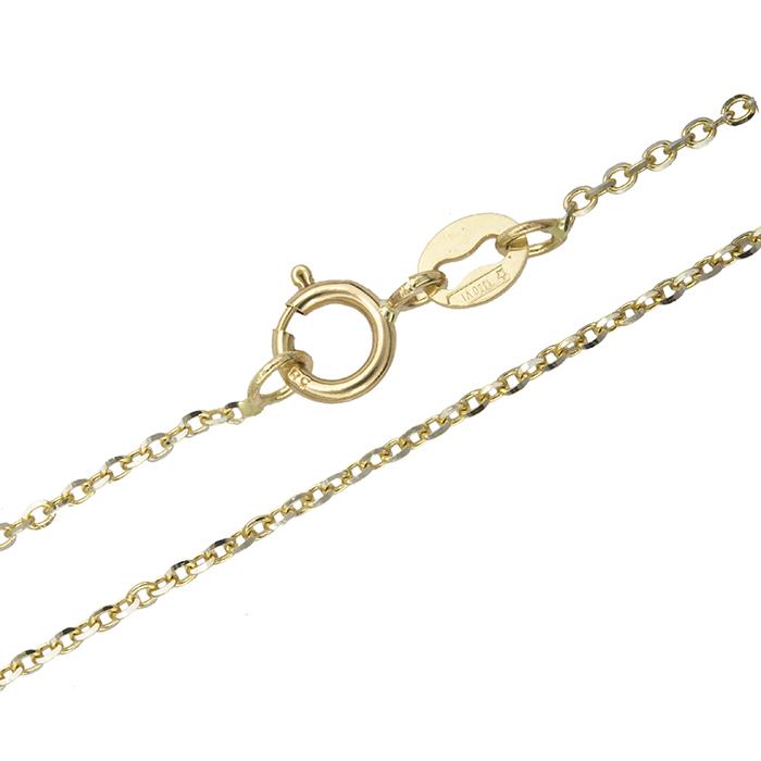 Γυναικεία δίχρωμη αλυσίδα Κ14 021438 021438 Χρυσός 14 Καράτια