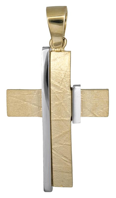Σταυροί Βάπτισης - Αρραβώνα Βαπτιστικός σταυρός για αγόρι Κ14 021465 021465 Ανδρικό Χρυσός 14 Καράτια