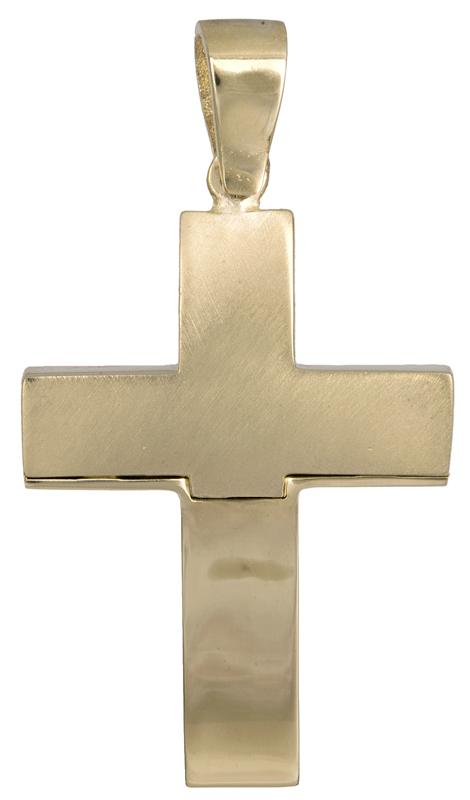 Σταυροί Βάπτισης - Αρραβώνα Χρυσός σταυρός για αγοράκι Κ14 021467 021467 Ανδρικό Χρυσός 14 Καράτια