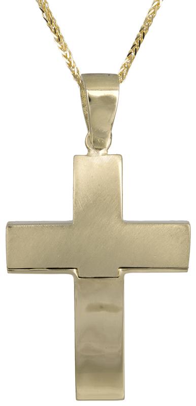 Βαπτιστικοί Σταυροί με Αλυσίδα Χρυσός αντρικός σταυρός 14Κ C021467 021467C Ανδρικό Χρυσός 14 Καράτια