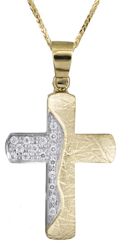 Βαπτιστικοί Σταυροί με Αλυσίδα Γυναικείος σταυρός με αλυσίδα 14Κ C021470 021470C Γυναικείο Χρυσός 14 Καράτια