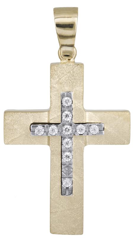 Σταυροί Βάπτισης - Αρραβώνα Βαπτιστικός σταυρός για κορίτσι Κ14 021471 021471 Γυναικείο Χρυσός 14 Καράτια
