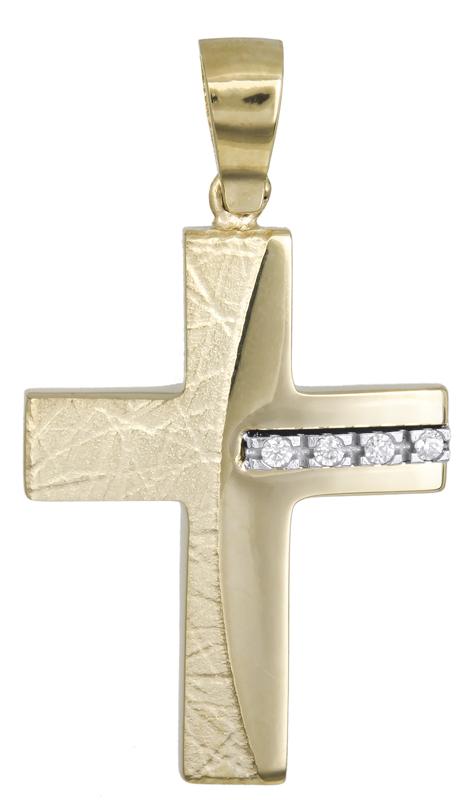 Σταυροί Βάπτισης - Αρραβώνα Βαπτιστικός σταυρός για κορίτσι Κ14 021472 021472 Γυναικείο Χρυσός 14 Καράτια