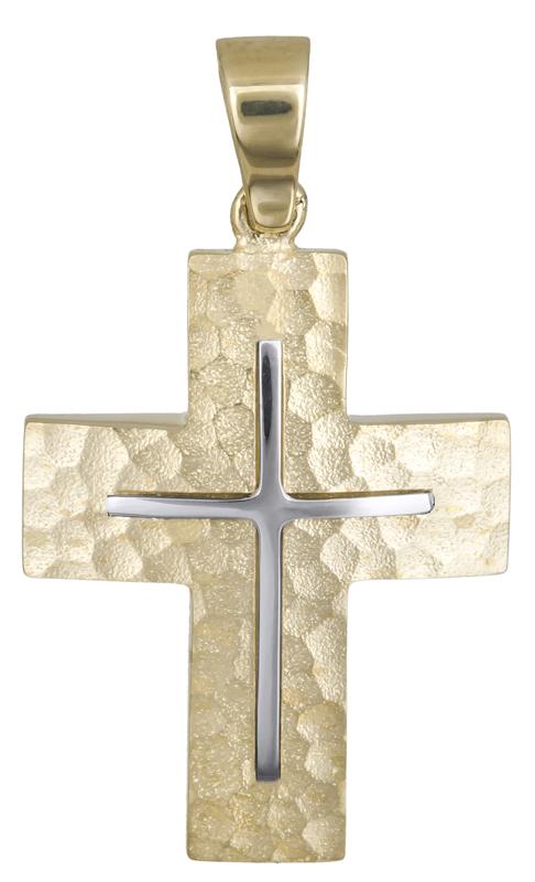 Σταυροί Βάπτισης - Αρραβώνα Αντρικός κλασικός σταυρός Κ14 021476 021476 Ανδρικό Χρυσός 14 Καράτια