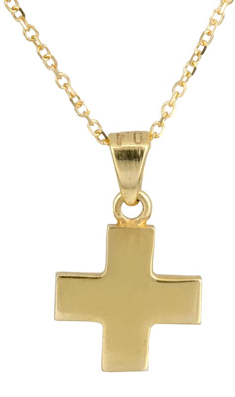 Χρυσό σταυρουδάκι Κ14 C021515 021515C Χρυσός 14 Καράτια