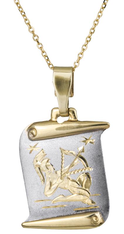 Χρυσό κολιέ Κ14 Τοξότης C021563 021563C Χρυσός 14 Καράτια