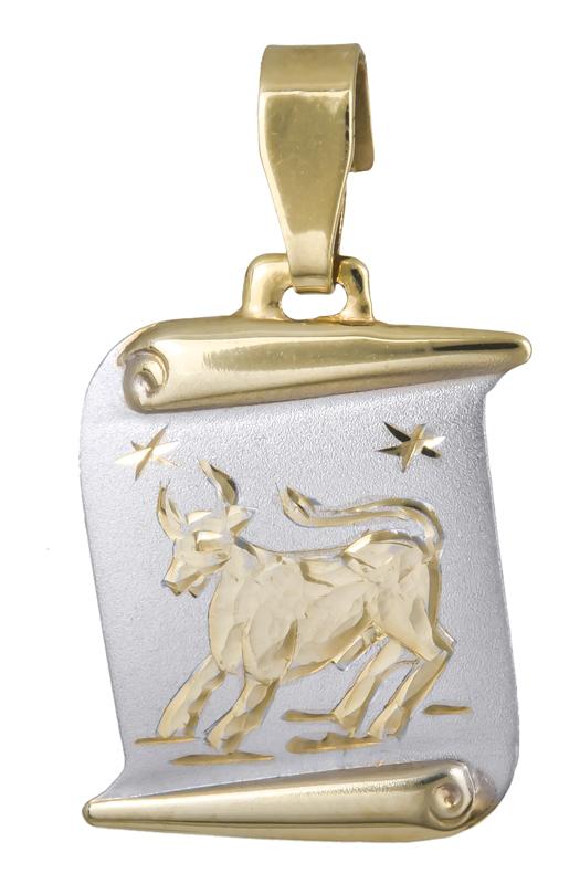 Κρεμαστό ζώδιο του Ταύρου Κ14 021567 021567 Χρυσός 14 Καράτια