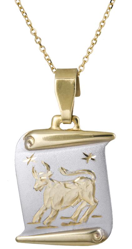 Χρυσό χειροποίητο κολιέ του Ταύρου C021567 021567C Χρυσός 14 Καράτια