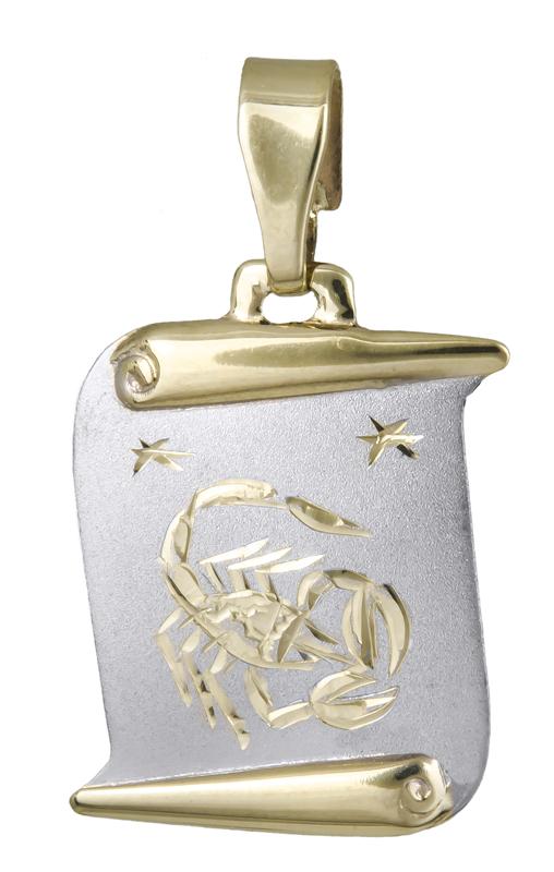 Κρεμαστό ζώδιο του Σκορπιού Κ14 021570 021570 Χρυσός 14 Καράτια