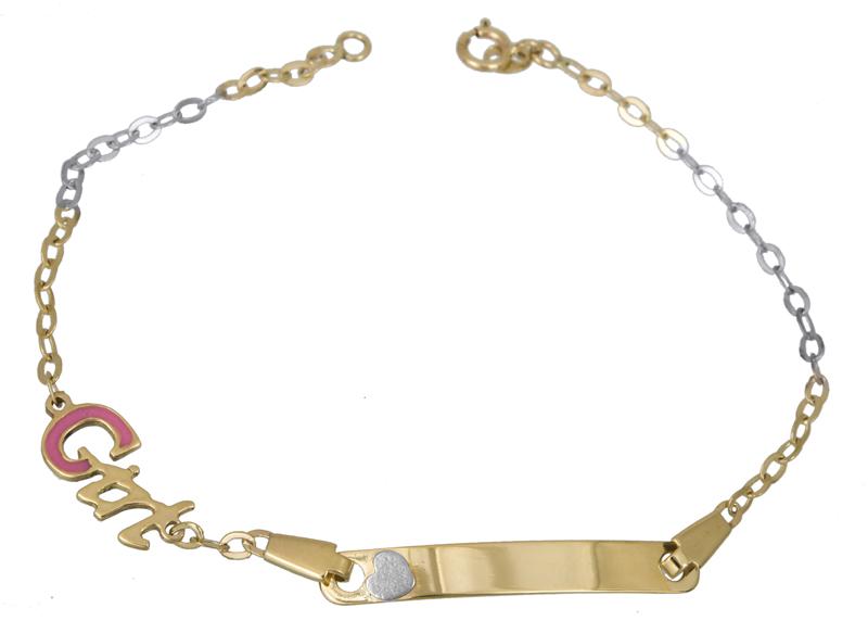Ταυτότητα Κ14 Girl 021590 021590 Χρυσός 14 Καράτια