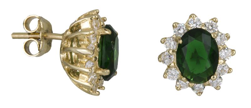 Χρυσά σκουλαρίκια με ζιργκόν Κ14 021626 021626 Χρυσός 14 Καράτια 957f6bd8cdd