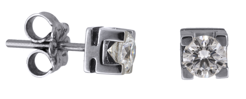 Γυναικεία σκουλαρίκια με διαμάντια 021645 021645 Χρυσός 18 Καράτια χρυσά κοσμήματα σκουλαρίκια καρφωτά