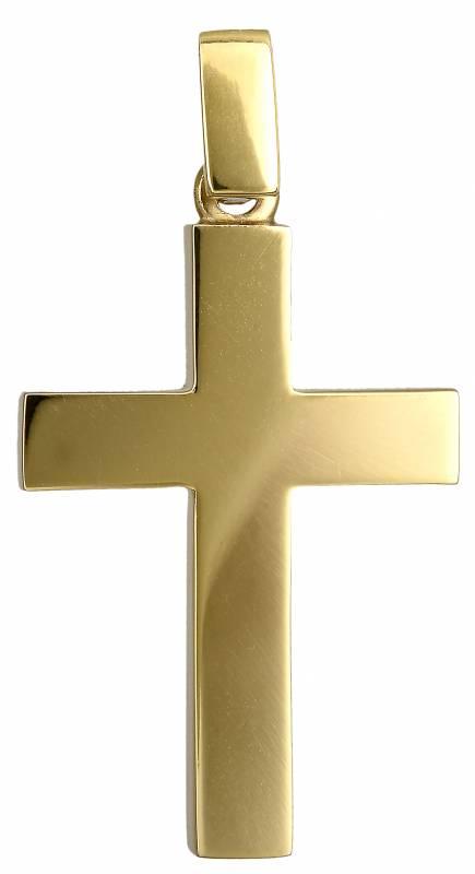 Σταυροί Βάπτισης - Αρραβώνα Χρυσός κλασικός σταυρός Κ14 021660 021660 Ανδρικό Χρυσός 14 Καράτια