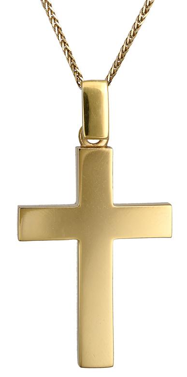 Βαπτιστικοί Σταυροί με Αλυσίδα Ανδρικός χρυσός σταυρός 14Κ C021660 021660C Ανδρικό Χρυσός 14 Καράτια