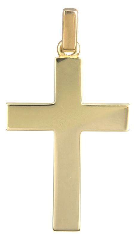 Σταυροί Βάπτισης - Αρραβώνα Χρυσός κλασικός σταυρός Κ14 021664 021664 Ανδρικό Χρυσός 14 Καράτια