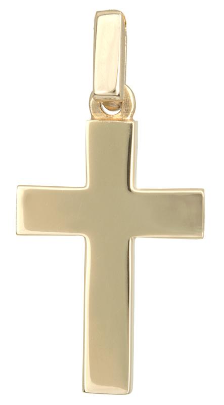 Σταυροί Βάπτισης - Αρραβώνα Χρυσός σταυρός για αγόρι Κ14 021665 021665 Ανδρικό Χρυσός 14 Καράτια
