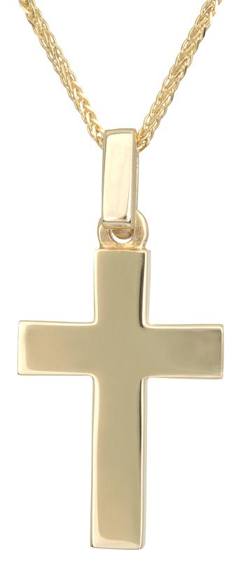 Βαπτιστικοί Σταυροί με Αλυσίδα Αντρικός χρυσός σταυρός με αλυσίδα 14Κ C021665 021665C Ανδρικό Χρυσός 14 Καράτια