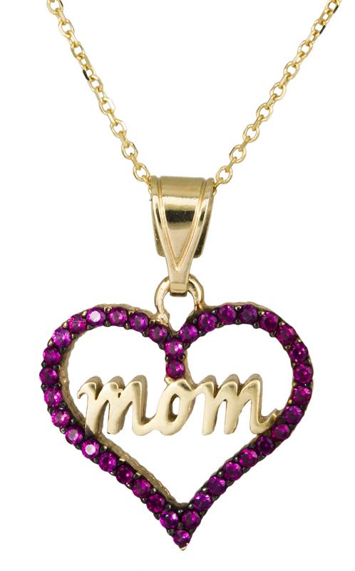 Κολιέ χρυσό με καρδούλα mom Κ14 C021671 021671C Χρυσός 14 Καράτια
