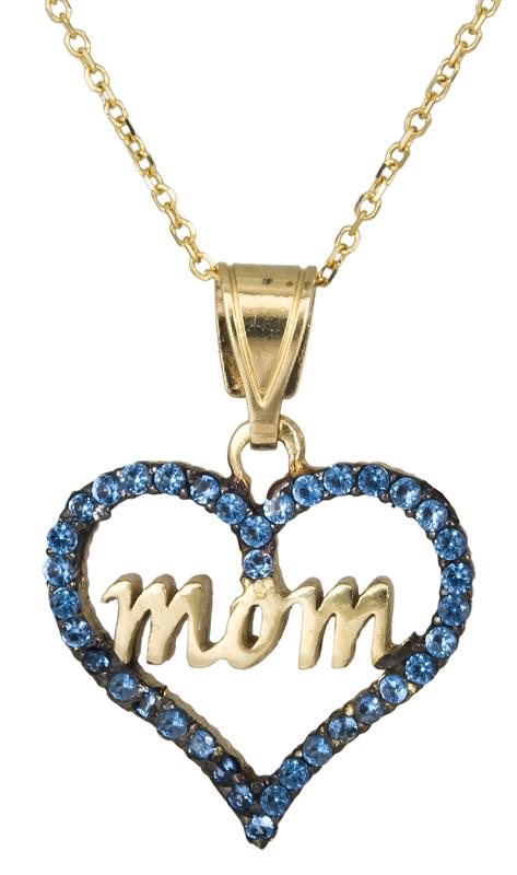 Γυναικείο κολιέ με καρδούλα mom Κ14 C021672 021672C Χρυσός 14 Καράτια