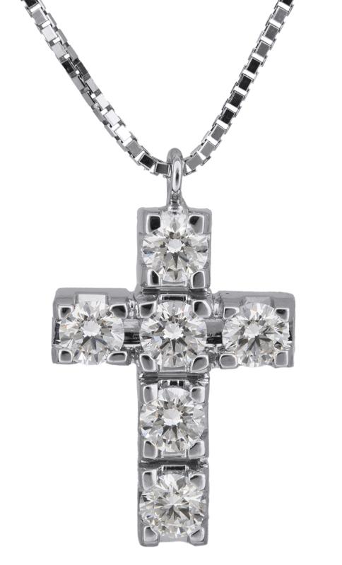 Λευκόχρυσος σταυρός με μπριγιάν 18Κ C021702 021702C Χρυσός 18 Καράτια
