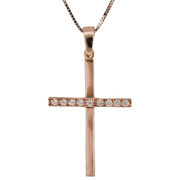 Βαπτιστικοί Σταυροί με Αλυσίδα Γυναικείος σταυρός Κ18 C021705 021705C Γυναικείο Χρυσός 18 Καράτια