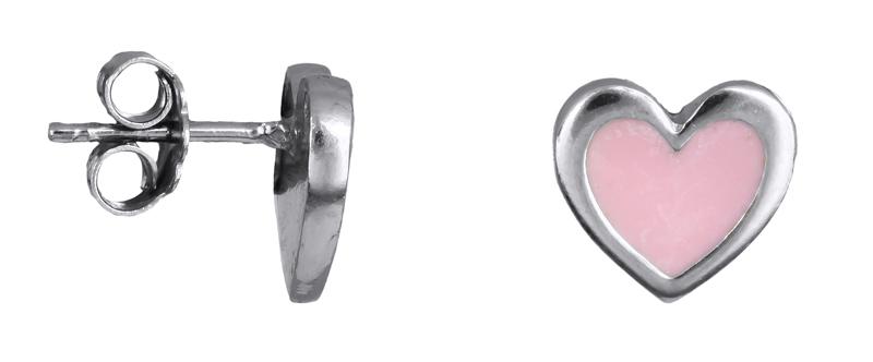 Σκουλαρίκια ασημένια καρδούλες 925 021773 021773 Ασήμι