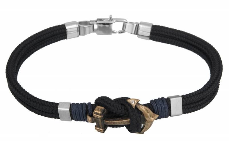 Βραχιόλι άγκυρα για άντρα BG/7189BL BG/7189BL Ατσάλι fashion jewels ascot βραχιόλια   χειροπέδες