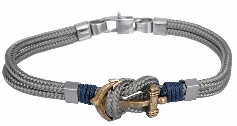Βραχιόλι αντρικό με άγκυρα BG/7191G BG/7191G Ατσάλι fashion jewels ascot βραχιόλια   χειροπέδες
