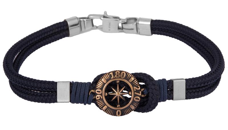 Ανδρικό βραχιόλι της Ascot BG/7156BL BG/7156BL Ατσάλι fashion jewels ascot βραχιόλια   χειροπέδες