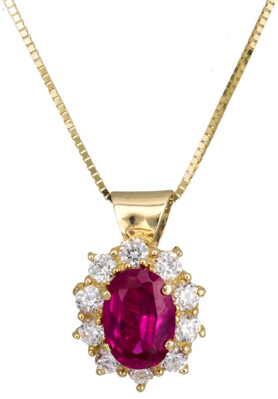 Γυναικείο κολιέ Κ14 C021822 021822C Χρυσός 14 Καράτια