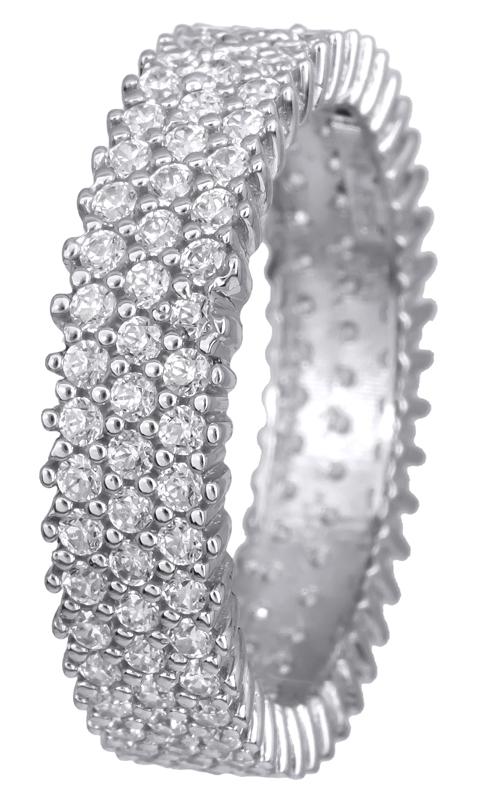 Λευκόχρυσο τρίσειρο δαχτυλίδι Κ14 021827 021827 Χρυσός 14 Καράτια