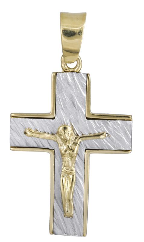 Σταυροί Βάπτισης - Αρραβώνα Ανδρικός σταυρός Κ14 021839 021839 Ανδρικό Χρυσός 14 Καράτια