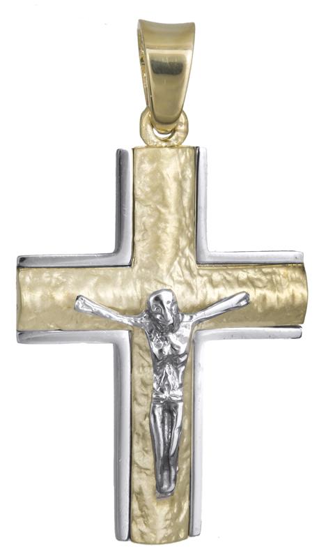 Σταυροί Βάπτισης - Αρραβώνα Ανδρικός σταυρός Κ14 με τον Εσταυρωμένο 021841 021841 Ανδρικό Χρυσός 14 Καράτια