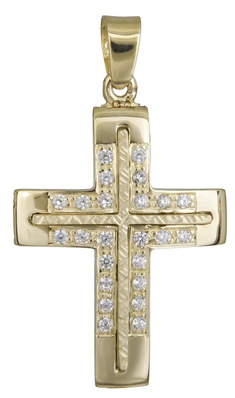 Σταυροί Βάπτισης - Αρραβώνα Χρυσός γυναικείος σταυρός Κ14 021847 021847 Γυναικείο Χρυσός 14 Καράτια