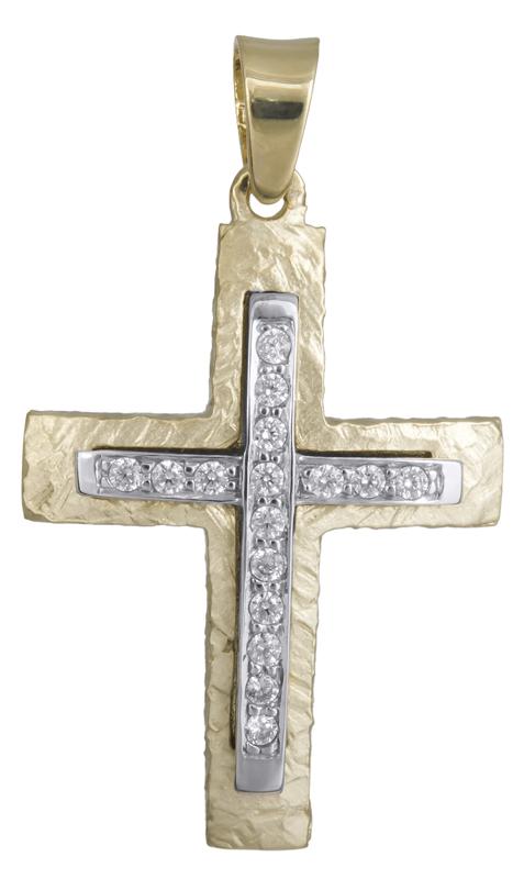 Σταυροί Βάπτισης - Αρραβώνα Σταυρός βάπτισης Κ14 021853 021853 Γυναικείο Χρυσός 14 Καράτια