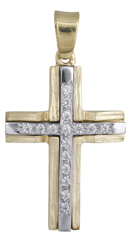 Σταυροί Βάπτισης - Αρραβώνα Γυναικείος σταυρός Κ14 021855 021855 Γυναικείο Χρυσός 14 Καράτια