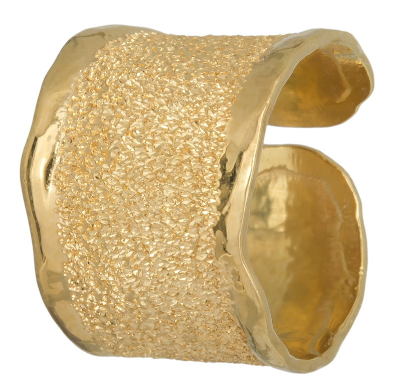 Επίχρυσο σεβαλιέ δαχτυλίδι 925 021861 021861 Ασήμι