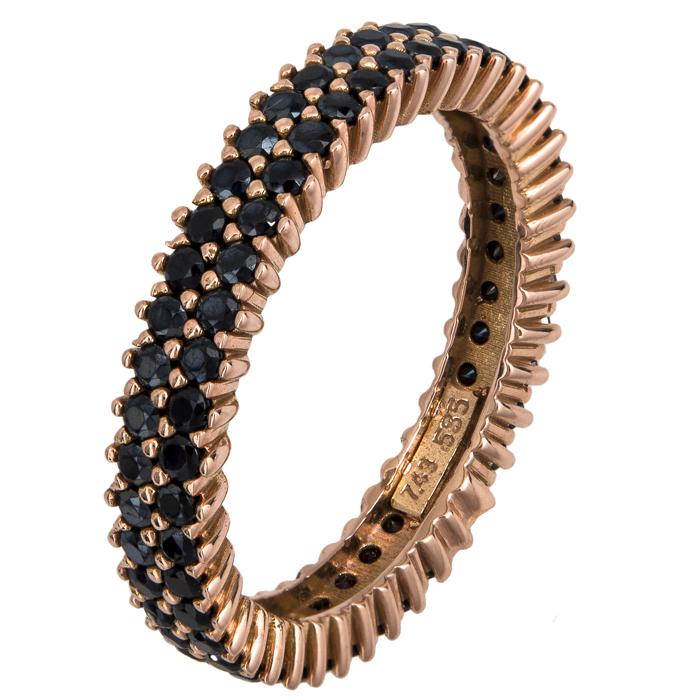Δίσειρο δαχτυλίδι ροζ gold Κ14 021874 021874 Χρυσός 14 Καράτια