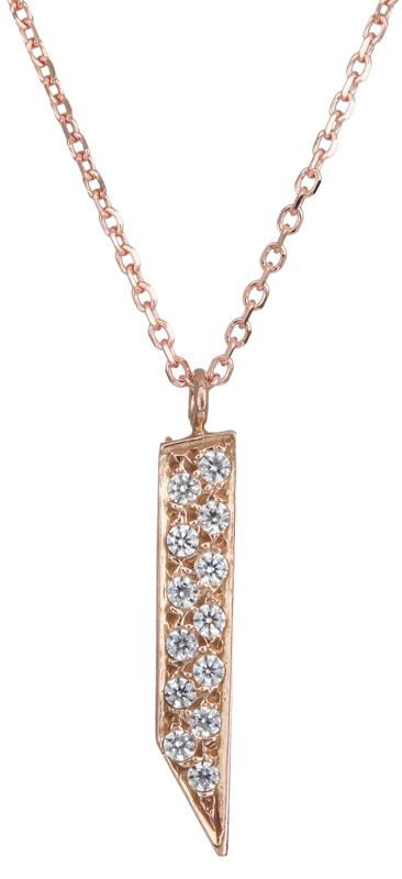 Ροζ χρυσό κολιέ με πέτρες 14Κ 021881 021881 Χρυσός 14 Καράτια