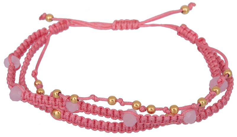 Τρίσειρο ροζ βραχιόλι 925 021942 021942 Ασήμι ασημένια κοσμήματα βραχιόλια