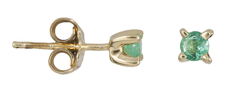 Γυναικεία σκουλαρίκια Κ18 με σμαράγδι 021943 021943 Χρυσός 18 Καράτια