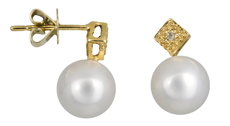 Χρυσά σκουλαρίκια με μαργαριτάρια Κ18 021952 021952 Χρυσός 18 Καράτια